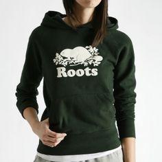 Roots Original Kanga Sweater - Dark Green (size XS; fits like M)