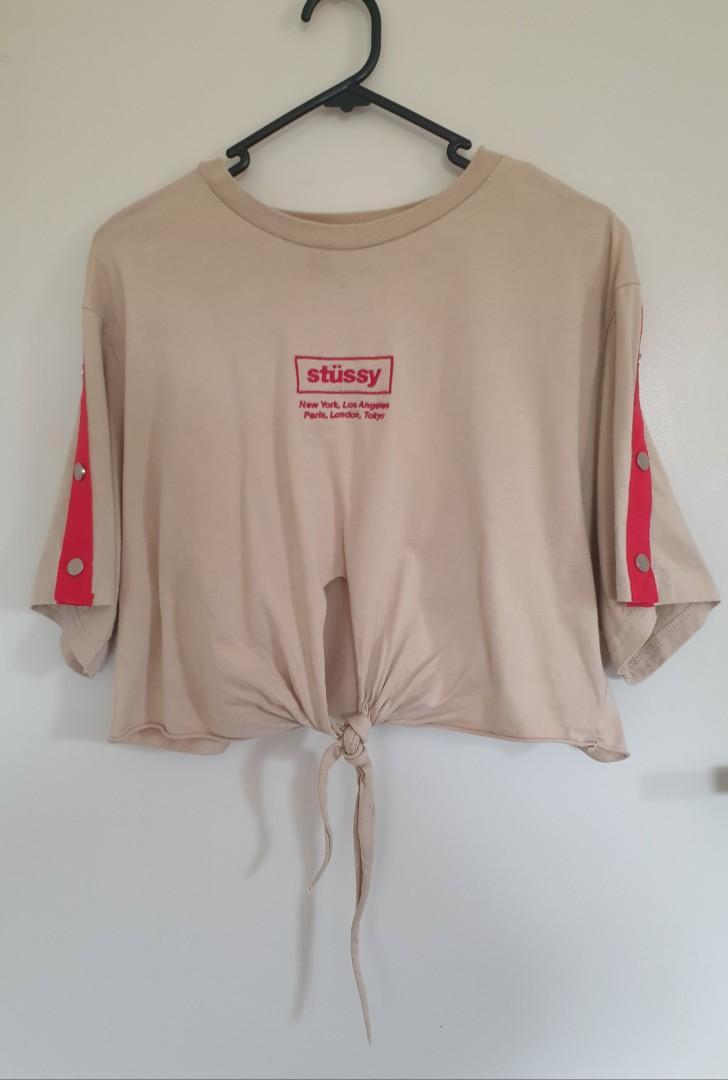 Stussy beige top