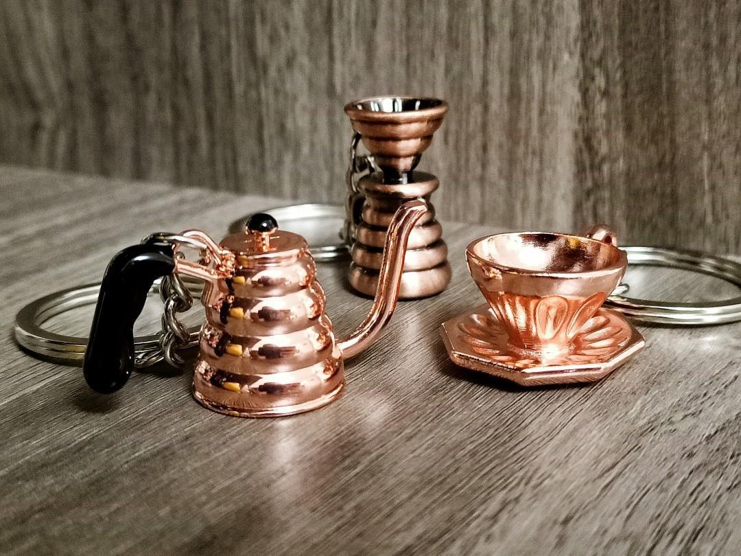 100% NEW Barista Hustle Tools Coffee Dripper & Server+POT+Cup KeyChain Sets 咖啡師 濾杯連下壺+手沖壺+杯 精品咖啡 鎖匙扣 小飾物
