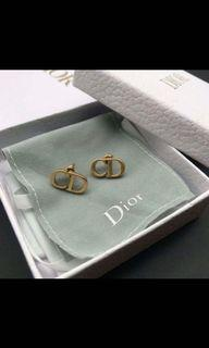 18K Gold Plated Christian Dior earrings studs