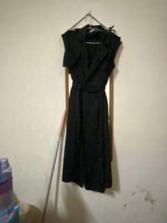 風衣背心洋裝