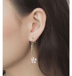 櫻之雨耳環 夾式耳環 螺旋耳夾 垂墜耳環 耳夾 飾品配件