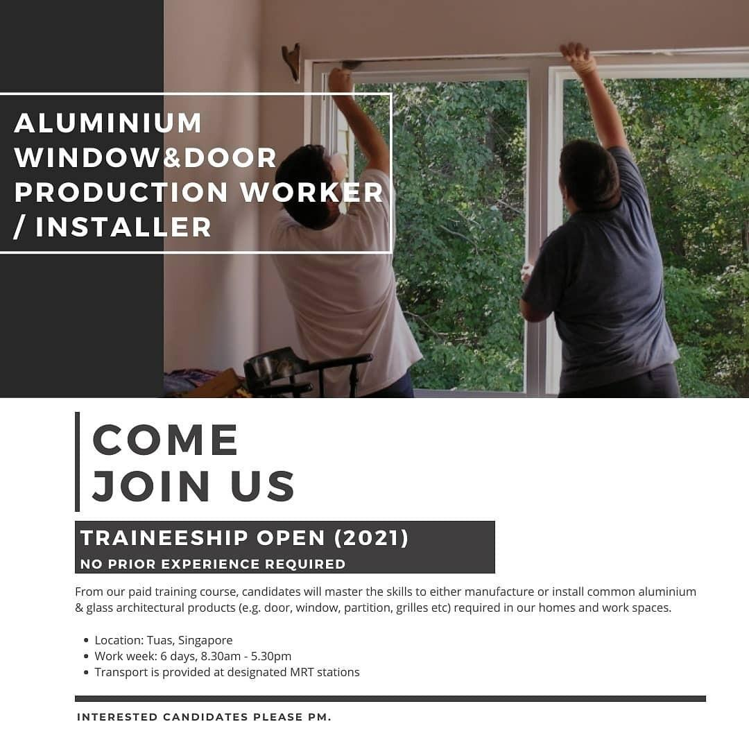 Aluminium Window and Door Production & Installation Training