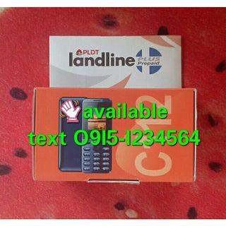 available instant Prepaid PLDT landline sim free 50 load and keypad cellphone 02 area code year 2021