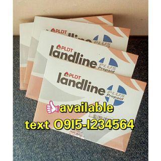 Available Prepaid PLDT landline sim free 50 load 02 area code