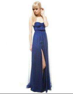 bershka long dress