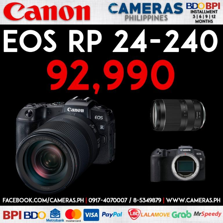 Canon EOS RP + 24-240 F4-6.3 IS USM | Credit Card | Installment | Cash | Cameras Philippines | https://cameras.ph