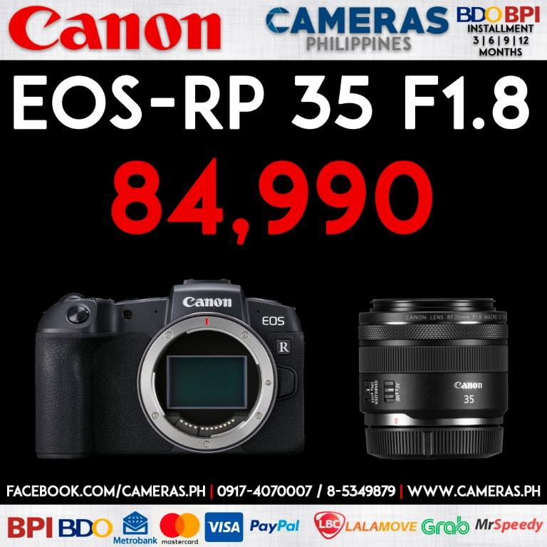 Canon EOS RP + 35mm F1.8 Macro IS STM | Credit Card | Installment | Cash | Cameras Philippines | https://cameras.ph