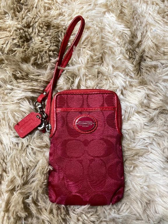 Coach Small Wristlet Pouch - Red