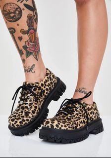 Delia's cheetah print platform shoes