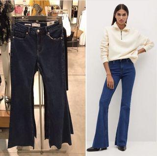 flare pants jeans Mango