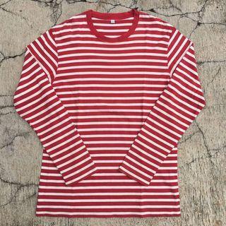Kaos Stripes Uniqlo Longsleeve (not nike awake stussy carhartt)