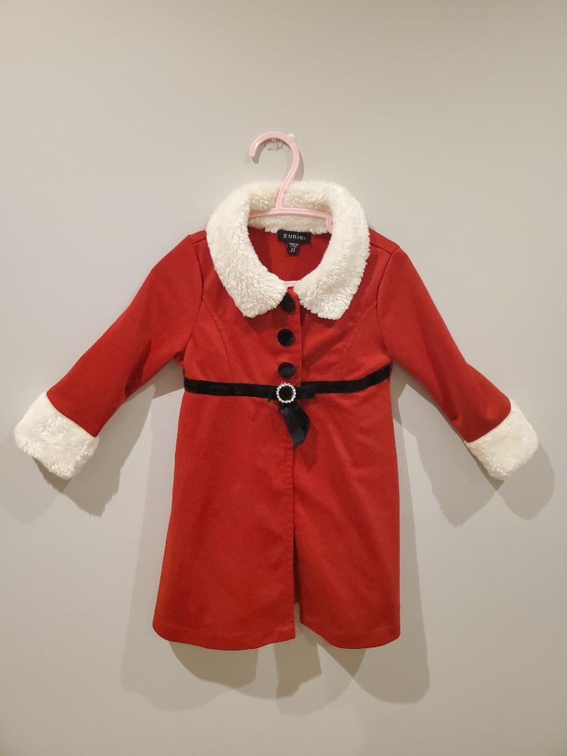 Lil Santa red dress with coat