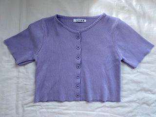 Lilac Purple Ungu Crop Top Korean Fashion Brandy Melville Dupe
