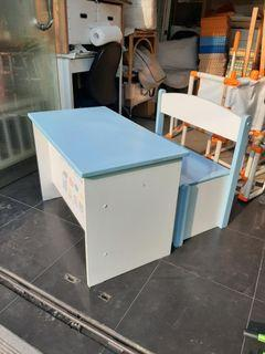 Meja kayu anak dengan penyimpanan (76x43x52) brand Thailand