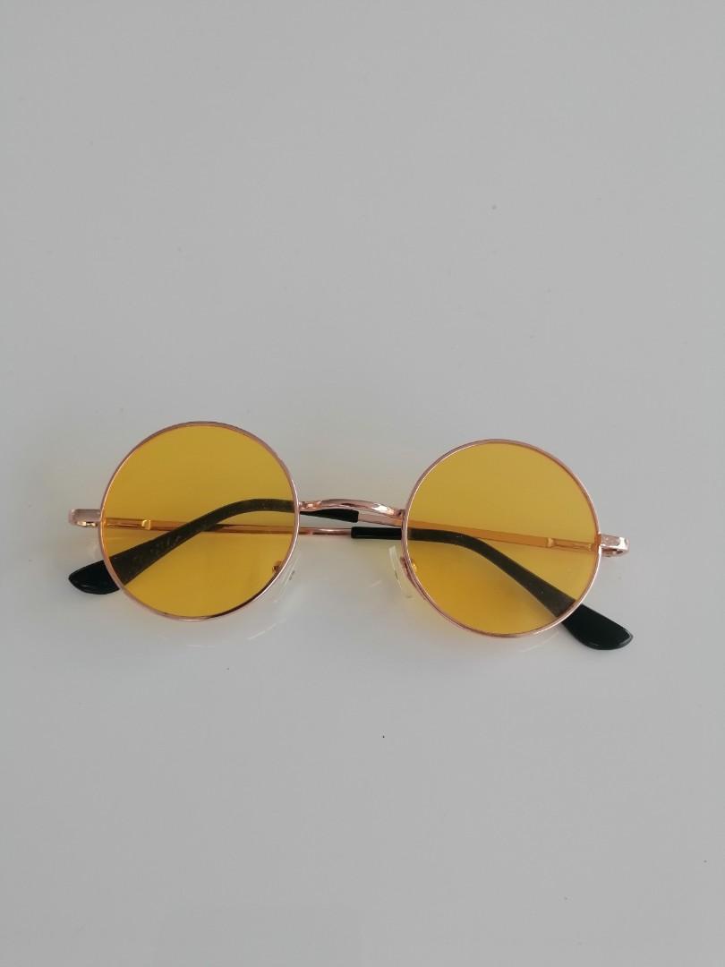 vintage hippie yellow glasses