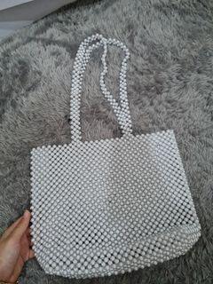 White beads bag (costumize)