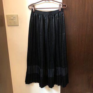 原價1200 日牌 鏤空異材質長裙