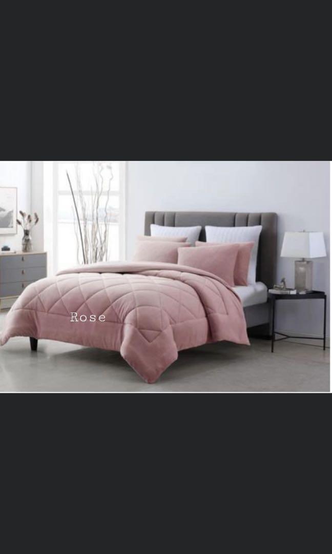 3 pc Coral Fleece Comforter