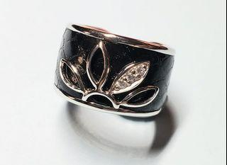 925 Leather Silver Ring 925 皮革銀戒指