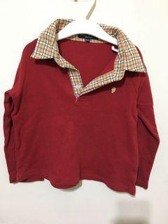 棉質紅色上衣