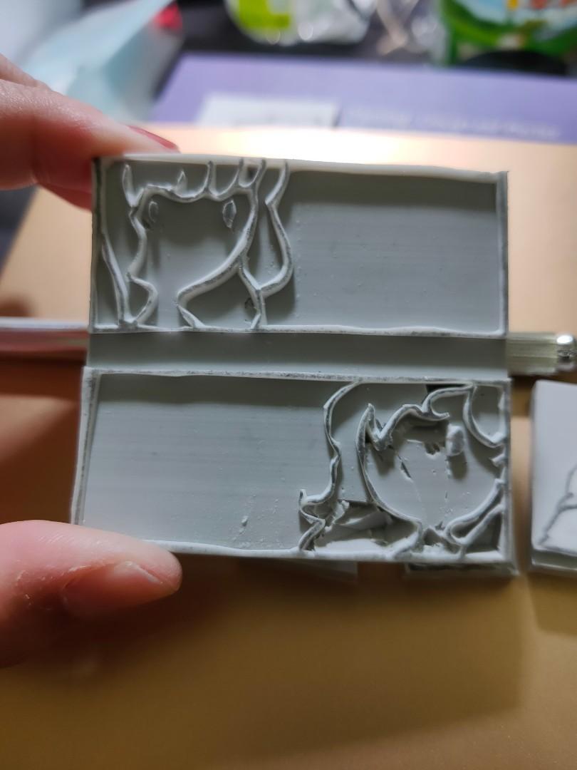 女孩 手工雕刻橡皮印章 歡迎來圖客製