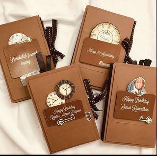 Custom Notebook/scrapbook acordion album handmade/ kerajinan tangan/ DIY/ kerajinan kertas/ aksesoris/ album/ scrapbook murah