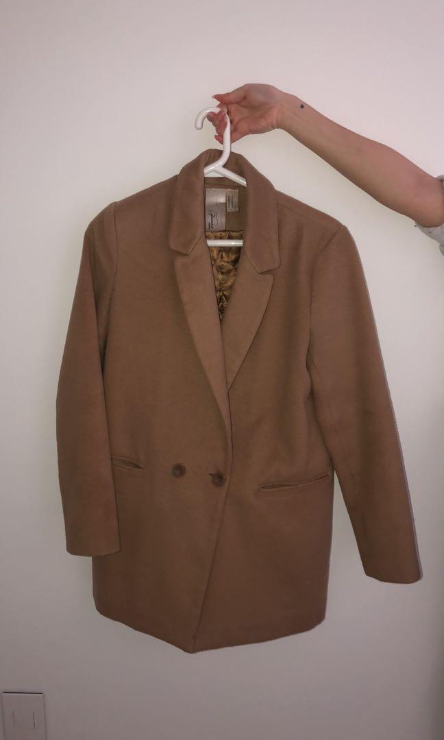F21 Camel Coat