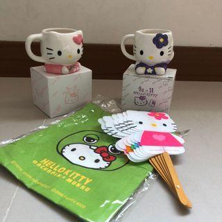 Hello Kitty 四件組(馬克杯/扇子/束口袋)