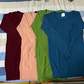 韓國針織上衣4件