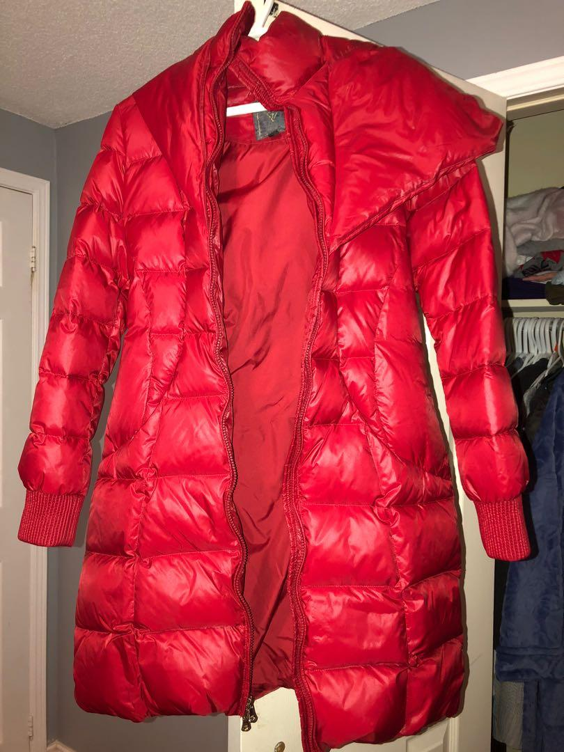 Red Puffer Guess Jacket