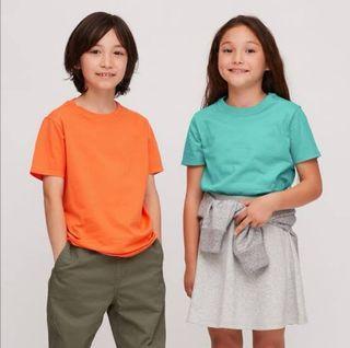 UNIQLO KIDS GREEN COTTON CREW NECK SHORT SLEEVE T SHIRT  - UNISEX