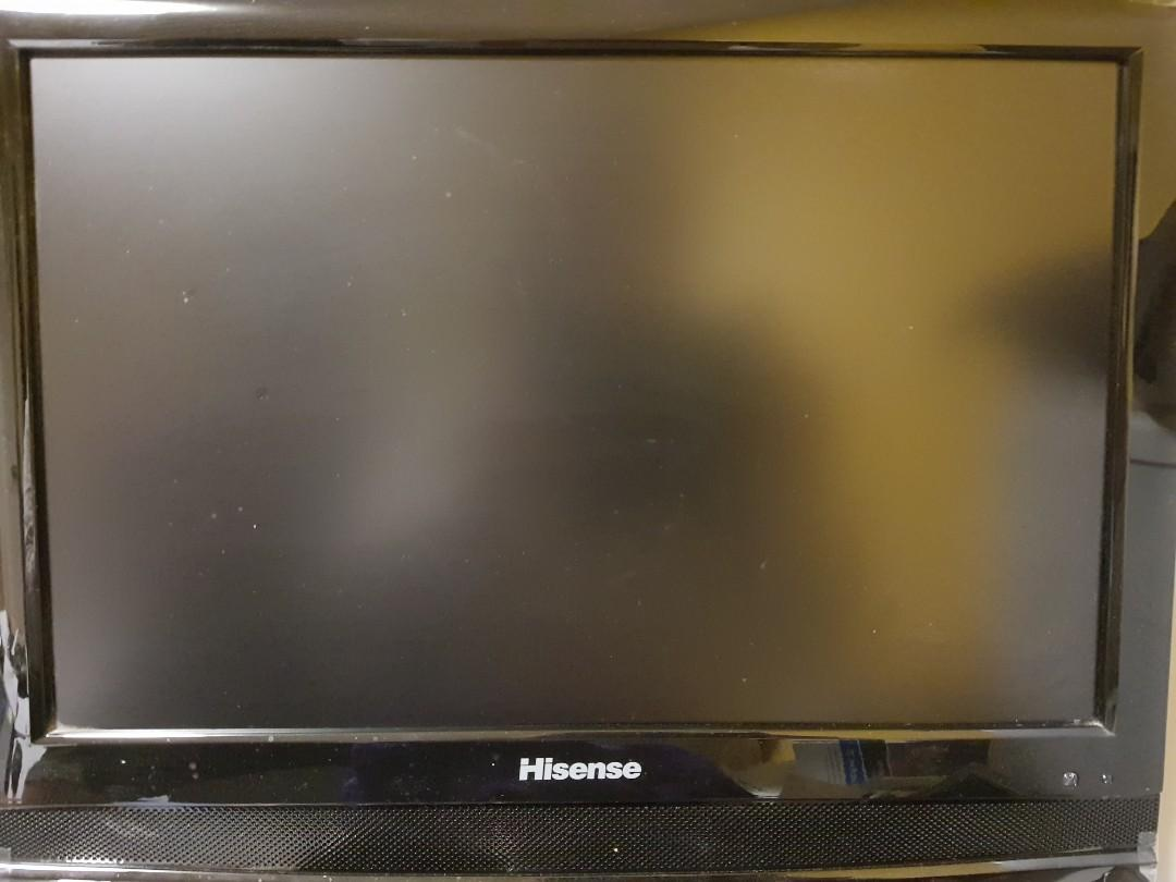 """20"""" TV/laptop monitor with remote control"""