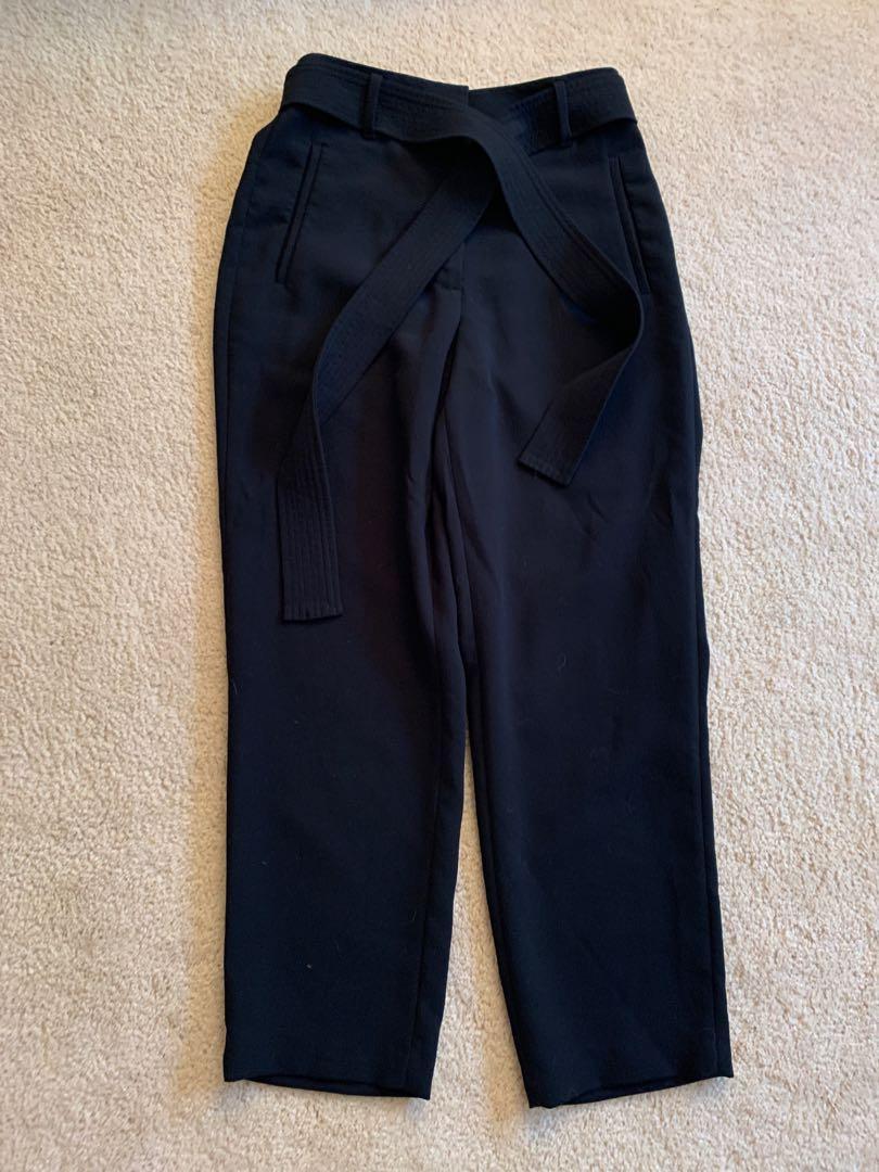 Black aritzia tie-front pants