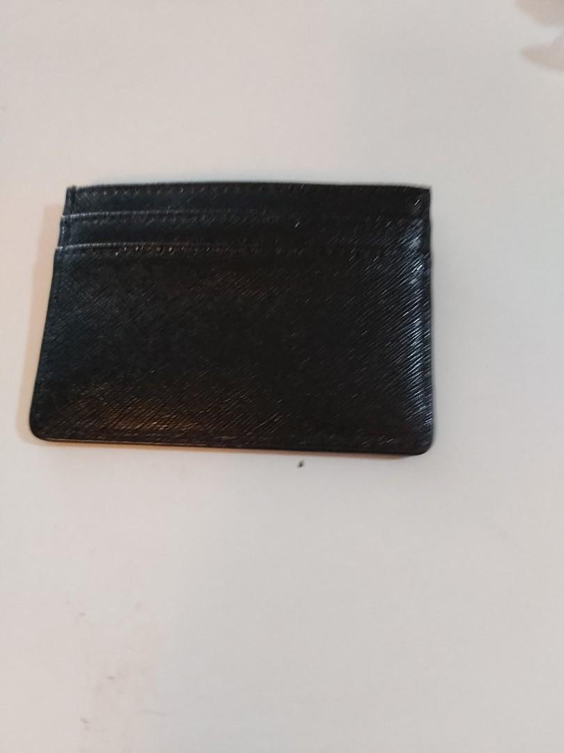 Black Thin Wallet Card Holder