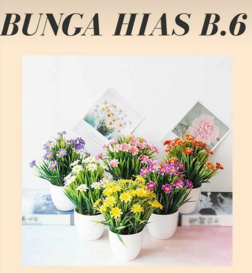 Bunga Hias Tanaman flower Plastik Dekorasi B6
