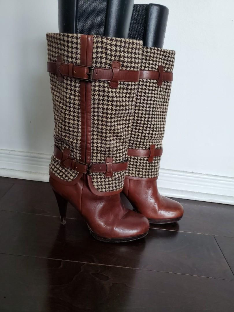 Cole Haan x Nike Brown Leather Boots - Size  7.5