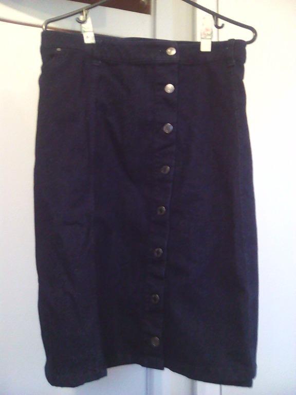 Denim long skirt size 26