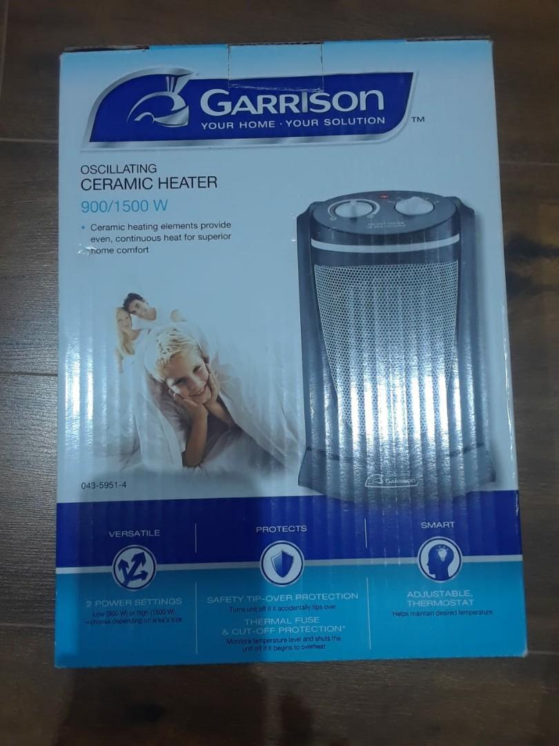 Garrison Portable Oscilatting Ceramic Heater