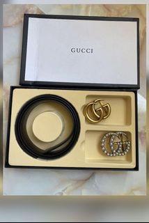 Gucci belt, interchangeable