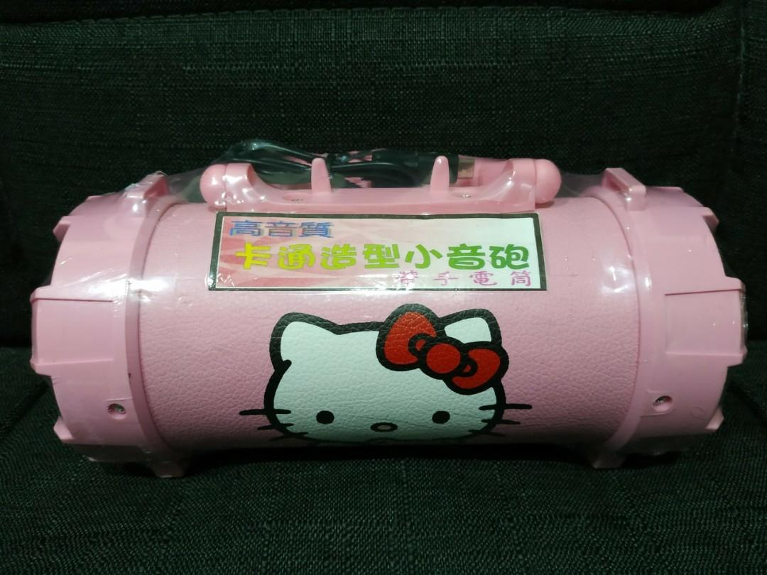 Hello kitty 粉色手提藍芽喇叭