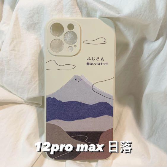 Iphone 12 pro max 日系富士山手機殼