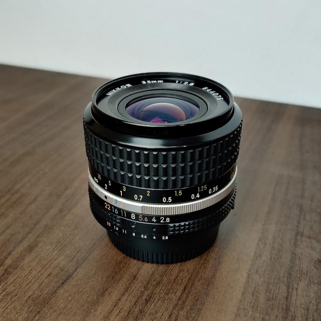 Lensa / Lens Nikon / Nikkor 35mm f2.8 Mulus + Bonus Adaptor FujiFilm
