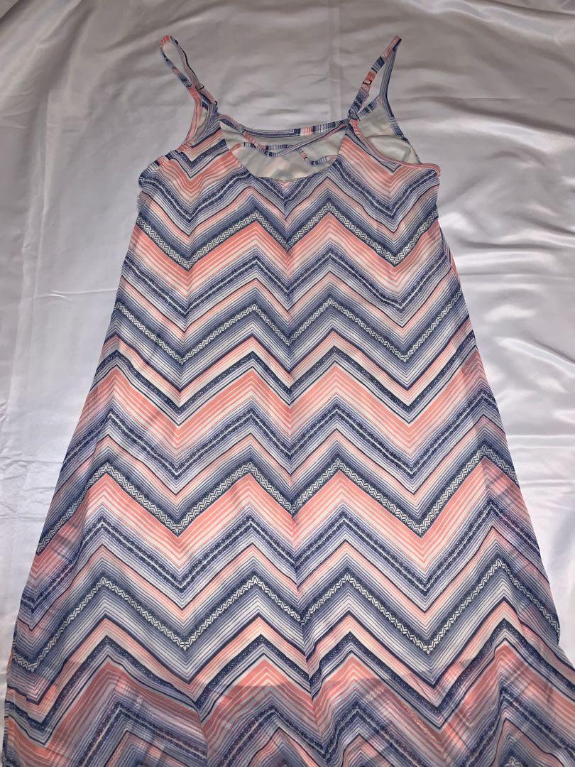 Light Sheer Maxi Dress with Zig Zag Pattern
