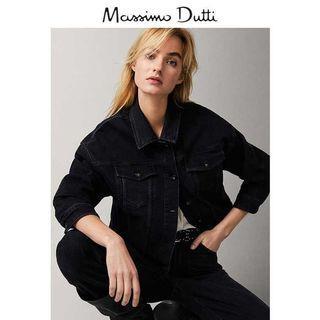 降價!Massimo dutti 黑色牛仔外套