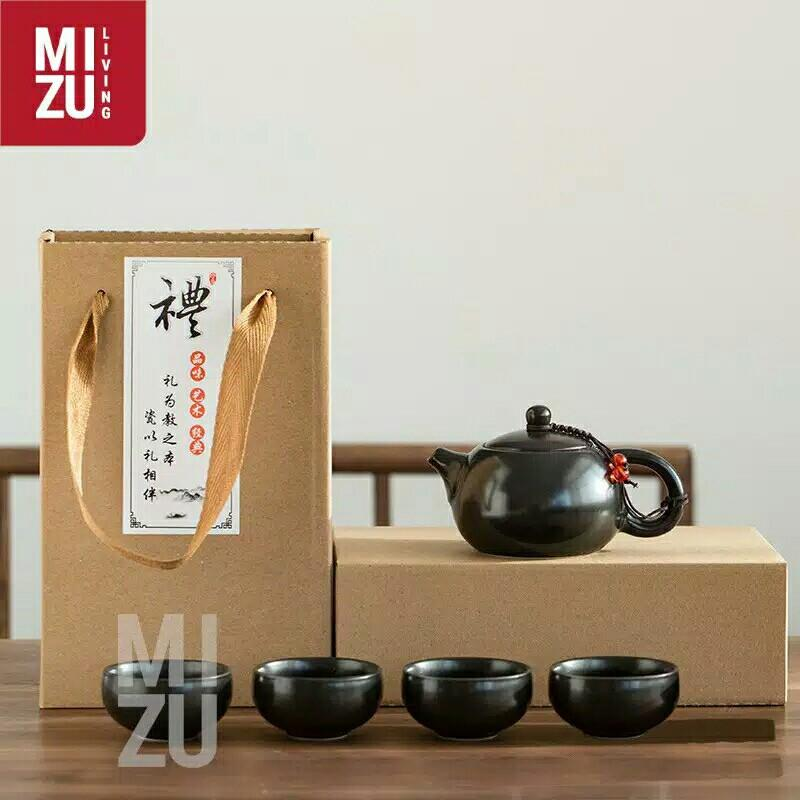 oolong classic Chinese Tea pot set 4cups ceramic with gift box