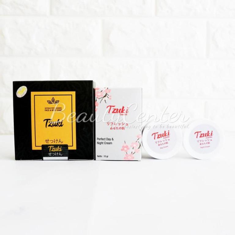 Paket Perawatan Wajah Paket Lengkap Tzuki / Tzuki Sabun dan Krim Siang Malam - Soap n Cream