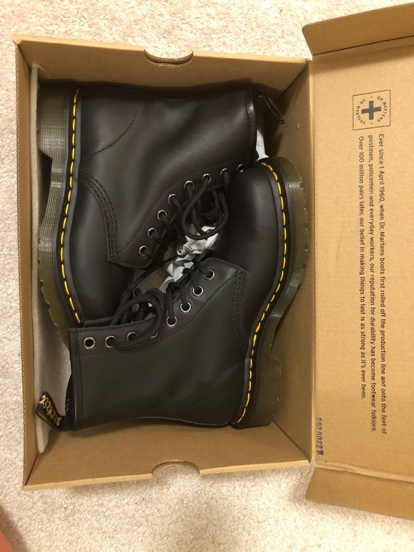 Size 6 Dr. Martens 1460  Women's Nappa Leather Lace up Boots