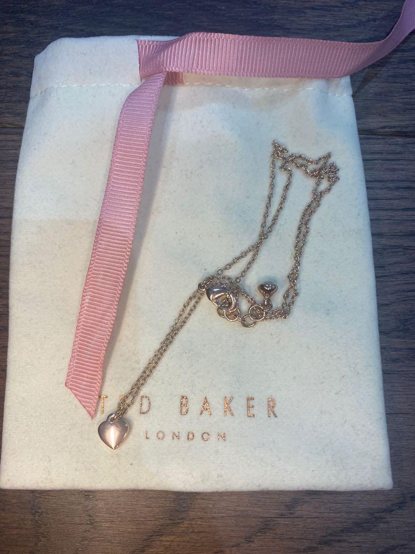 Ted baker Hara heart pendant necklace rose gold