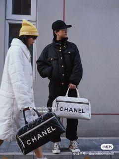 Chanel Vintage 保齡球包 旅遊包 不議價